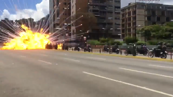 Explosión en protestas de Venezuela: VIDEO
